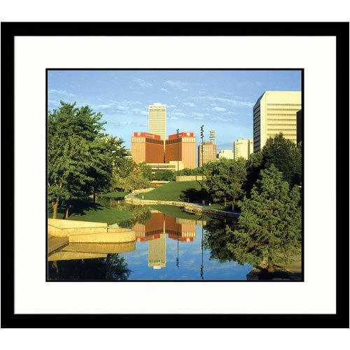 Great American Picture Cityscapes 'Downtown Omaha' by Ed Lallo Framed Photographic Print