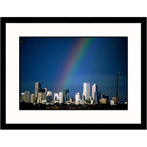 Great American Picture Cityscapes 'Rainbow Over Denver Skyline I' by Sally Brown Framed Photographic Print