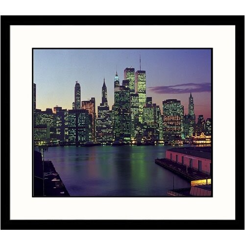 Great American Picture Cityscapes Manhattan Skyline Framed Photographic Print