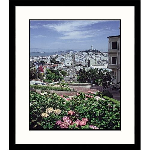 Great American Picture Cityscapes Crooked Street of San Francisco Framed Photographic Print