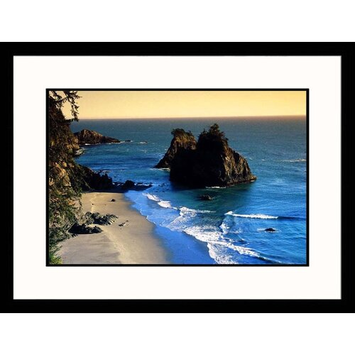 Seascapes 'Oregon Coast' by Elfi Kluck Framed Photographic Print