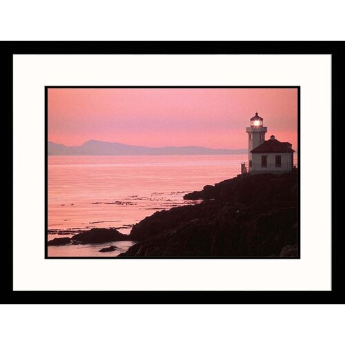 Seascapes 'San Juan, Washington Lighthouse' by Michele Burke Framed Photographic Print