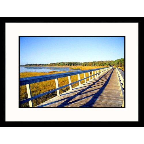 Great American Picture Seascapes 'Cape Cod Rail Trail' by Stephen Saks Framed Photographic Print