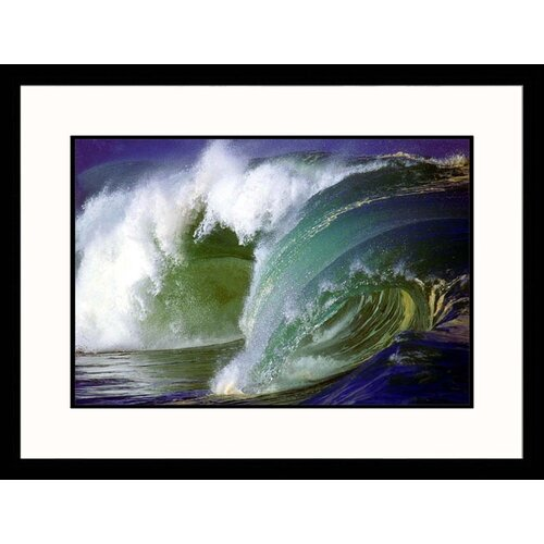 Great American Picture Seascapes 'Ocean Wave II' by Hank Fotos Framed Photographic Print