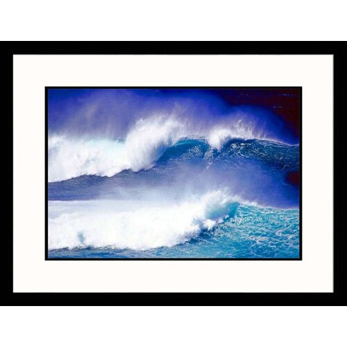 Great American Picture Seascapes Hawaii Waves Framed Photographic Print