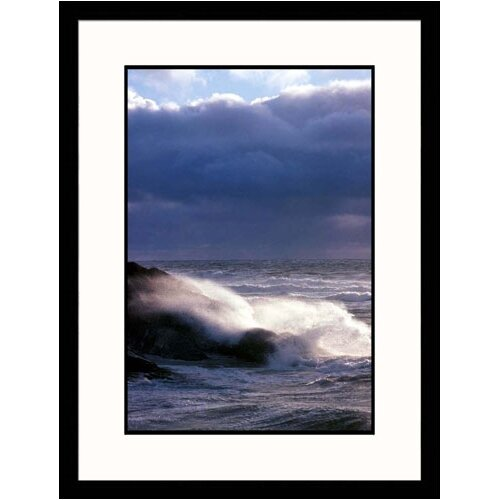 Great American Picture Seascapes Waves Crashing On Shore Framed Photographic Print