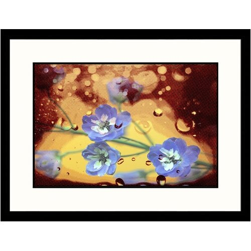 Florals Purple Flowers on Netting Framed Photographic Print