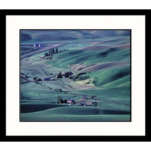Great American Picture Landscapes 'Palouse Farm' by Adam Jones Framed Photographic Print
