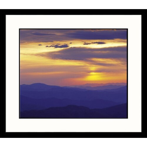 Landscapes 'Sunset Over Appalachian Mountains' by Adam Jones Framed Photographic Print