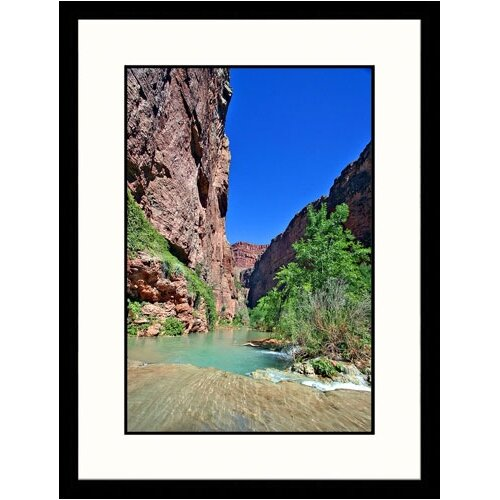 Great American Picture Landscapes 'Mooney Falls, Havasu Creek, Havasu Canyon' by Yvette Cardozo Framed Photographic Print