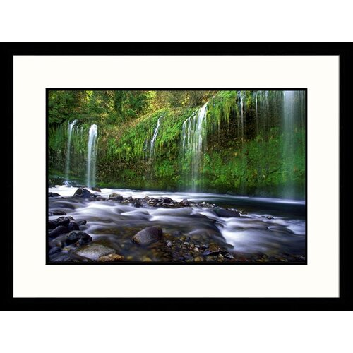 Landscapes Mossbrae Falls California Framed Photographic Print