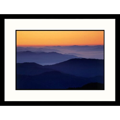 Great American Picture Landscapes 'Sunrise, Great Smokey Mountains - Tennessee and North Carolina' by Jack Jr Hoehn Framed Photographic Print