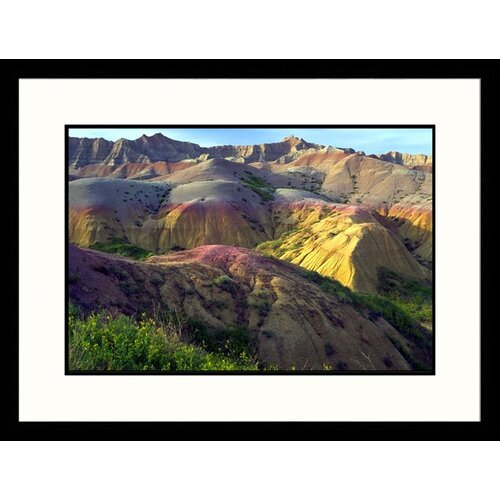 Landscapes 'Eroding Terrain Badlands - New Mexico, South Dakota ll' by Craig J Brown Framed ...