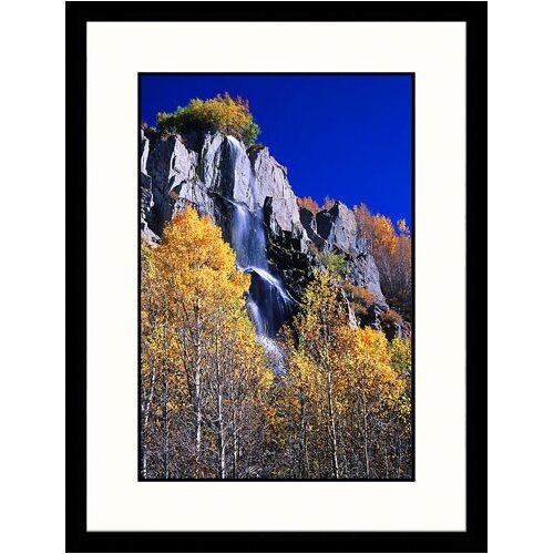 Landscapes 'Waterfall in Autumn' by Jim Vitali Framed Photographic Print