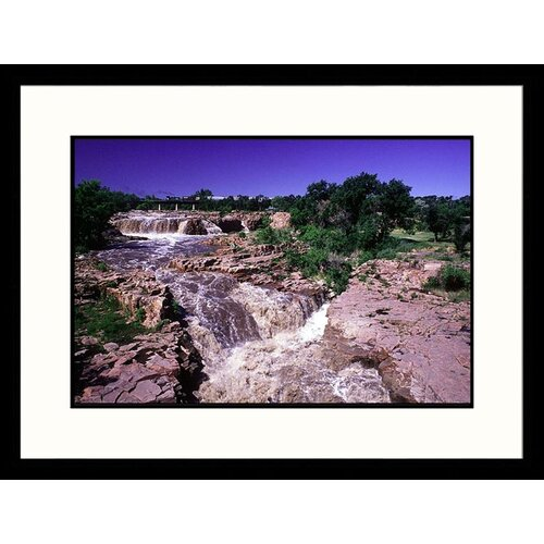 Great American Picture Landscapes 'Sioux River Falls, South Dakota' by Mick Roessler Framed Photographic Print