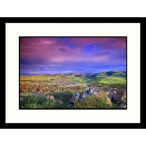 Great American Picture Landscapes 'Cloudy Sky, Irvine, California' by Eric Figge Framed Photographic Print