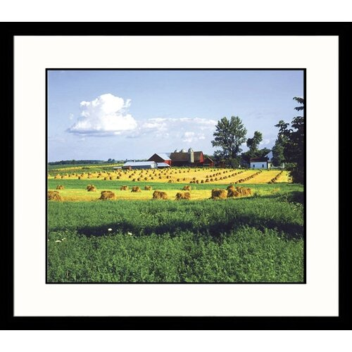 Great American Picture Landscapes Farmland, Wisconsin Framed Photographic Print