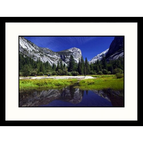 Landscapes 'Mirror Lake View, Yosemite National Park, California' by Walter Bibikow Framed ...