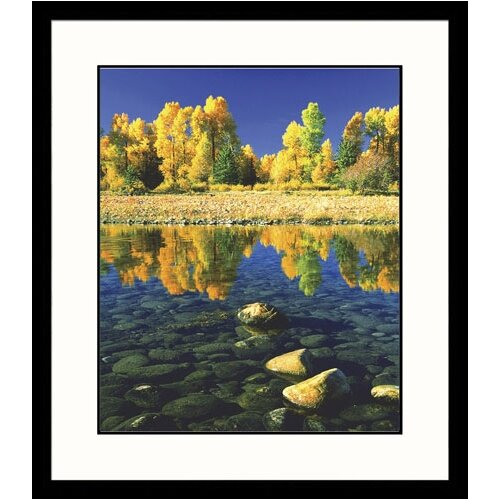 Landscapes 'Grand Tetons Fall' by Russell Burden Framed Photographic Print