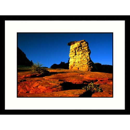 Great American Picture Landscapes 'Sunset Light Zion National Park, Utah' by Russell Burden Framed Photographic Print