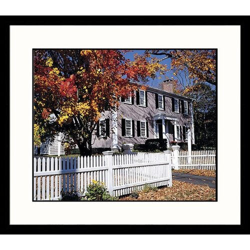 Great American Picture Landscapes 'New England Colonial Home' by Mark Gibson Framed Photographic Print