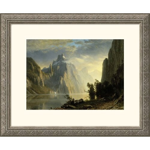 Great American Picture Museum Reproductions 'A Lake in the Sierra Nevada' by Albert Bierstadt Framed Photographic Print