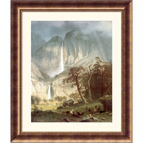 Museum Reproductions 'Cho-Looke, The Yosemite Fall' by Albert Bierstadt Framed Photographic Print
