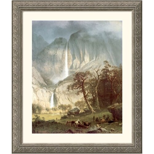 Great American Picture Museum Reproductions 'Cho-Looke, The Yosemite Fall' by Albert Bierstadt Framed Photographic Print