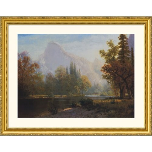 Museum Reproductions 'Half Dome, Yosemite' by Albert Bierstadt Framed Photographic Print