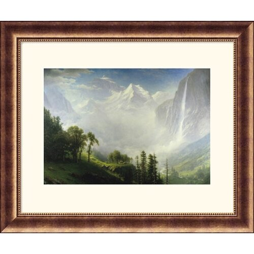 Museum Reproductions 'Majesty Of The Mountains' by Albert Bierstadt Framed Photographic Print