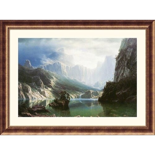 Great American Picture Museum Reproductions 'Sierra, Nevada' by Albert Bierstadt Framed Photographic Print