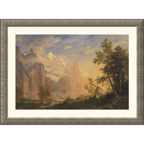 Great American Picture Museum Reproductions 'Western Landscape' by Albert Bierstadt Framed Photographic Print