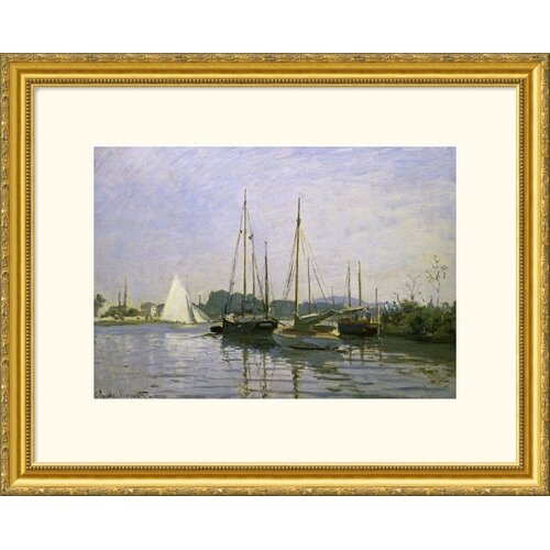 Great American Picture Museum Reproductions 'Boats: Regatta at Argenteuil c. 1872-73' by Claude Monet Framed Photographic Print