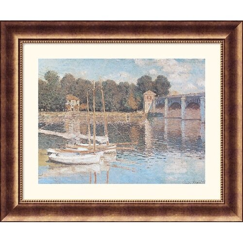 Great American Picture Museum Reproductions 'Bridge At Argenteuil' by Claude Monet Framed Photographic Print