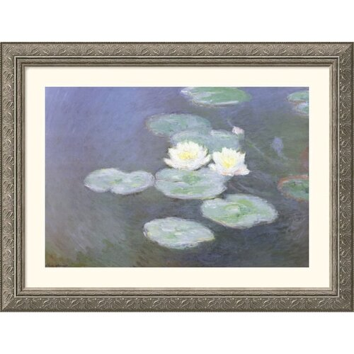 Great American Picture Museum Reproductions 'Nympheas Effet Du Soir (Water Lilies in the Evening)' by Claude Monet Framed Photographic Print