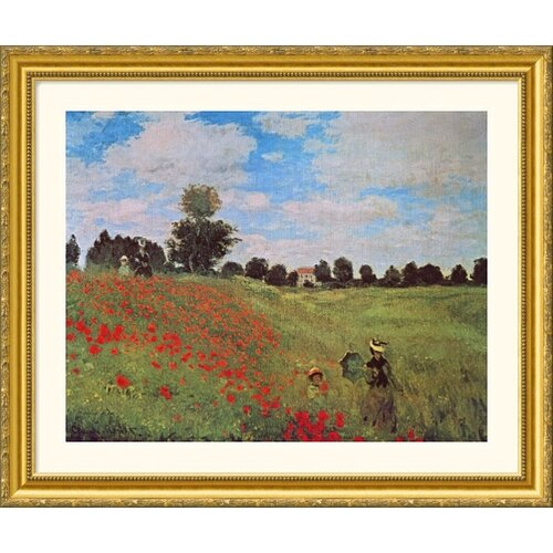 Museum Reproductions 'Poppies at Argenteuil' by Claude Monet Framed Photographic Print