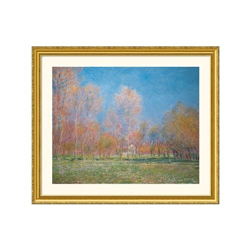 Museum Reproductions 'Spring in Giverny, 1890' by Claude Monet Framed Photographic Print