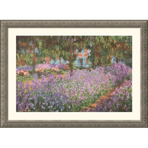 Great American Picture Museum Reproductions 'The Artist's Garden at Giverny, 1900' by Claude Monet Framed Painting Print