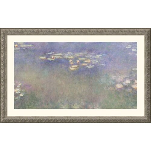 Great American Picture Museum Reproductions 'Water Lilies (Nympheas) 1916-26 Water Lilies and Nymphaeas' by Claude Monet Framed Painting Print