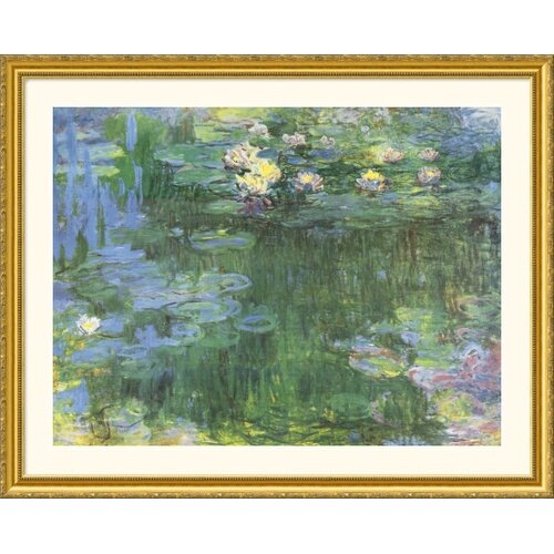 Great American Picture Museum Reproductions 'Water Lilies' by Claude Monet Framed Painting Print