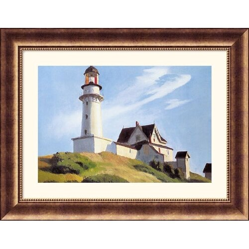 Great American Picture Museum Reproductions 'Lighthouse at Two Lights' by Edward Hopper Framed Painting Print