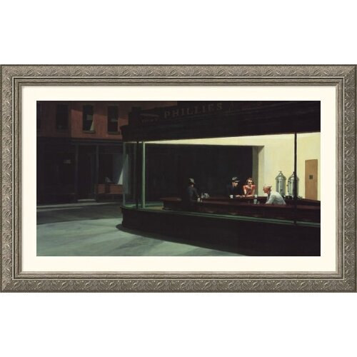 Great American Picture Museum Reproductions 'Nighthawks' by Edward Hopper Framed Painting Print