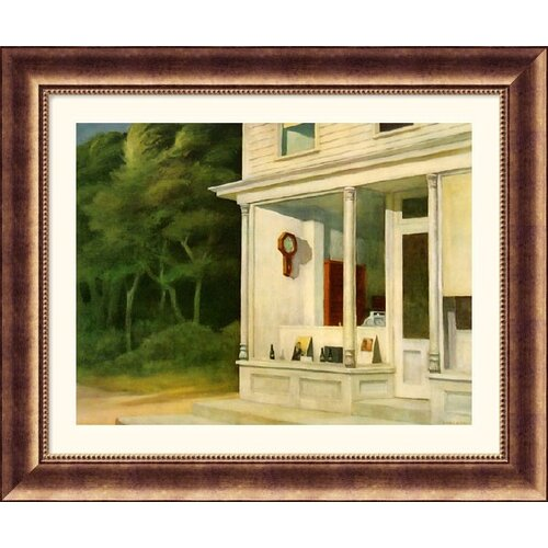 Great American Picture Museum Reproductions 'Seven A.M.' by Edward Hopper Framed Painting Print