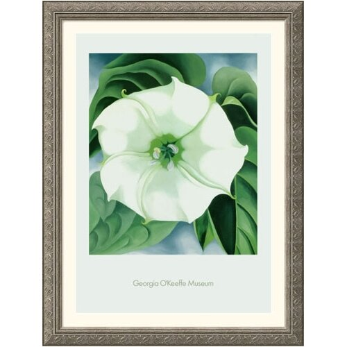 Museum Reproductions 'Jimson Weed, 1932' by Georgia O'Keeffe Framed Painting Print