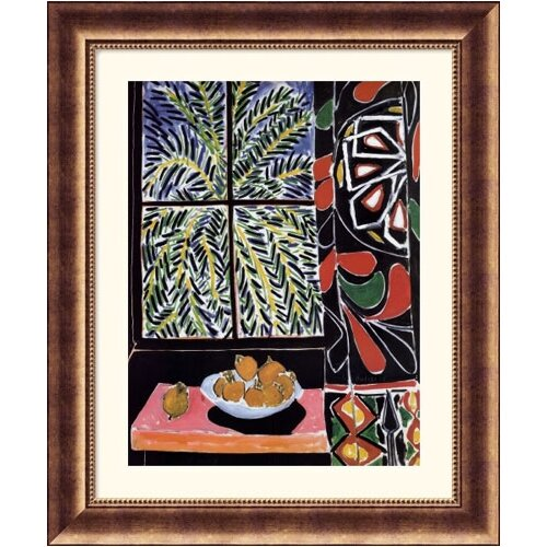Great American Picture Museum Reproductions 'Interior with Egyptian Curtain' by Henri Matisse Framed Painting Print