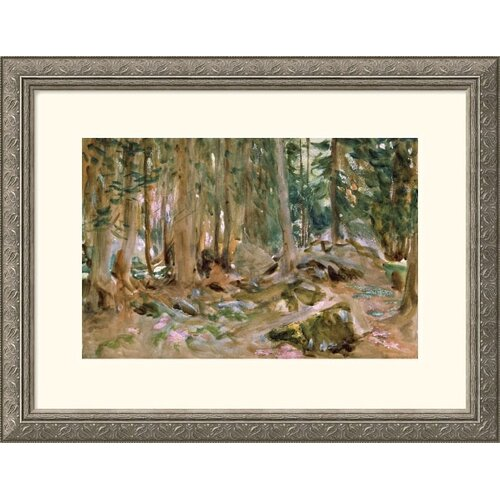 Museum Reproductions 'Pine Forest' by John Singer Sargent Framed Painting Print