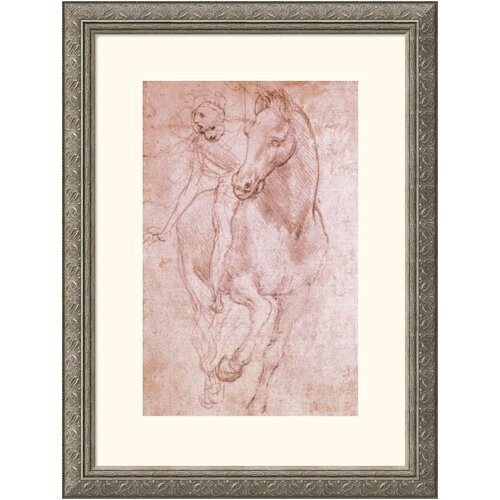 Great American Picture Museum Reproductions 'Horse & Rider' by Leonardo da Vinci Framed Painting Print