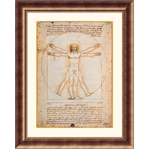 Museum Reproductions 'Proportions of the Human Figure (Vitruvian Man)' by Leonardo da Vinci ...