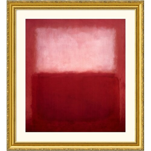 Great American Picture Museum Reproductions 'Over' by Mark Rothko Framed Painting Print