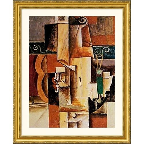 Great American Picture Museum Reproductions 'Violin and Guitar' by Pablo Picasso Framed Painting Print
